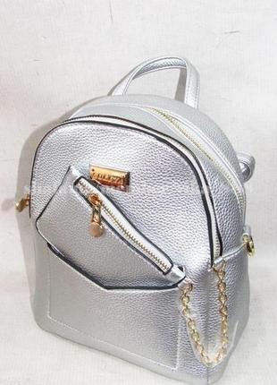 Рюкзак в городском стиле на два отделения 173 серебро