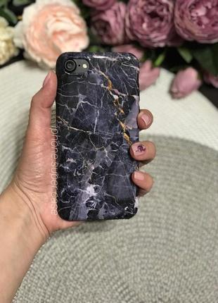 Мега  красивый силиконовый мраморный чехол на айфон iphone 7 / 8