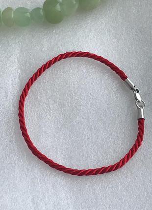 Красная нить серебро 925 пробы браслет от сглаза 40363 фото