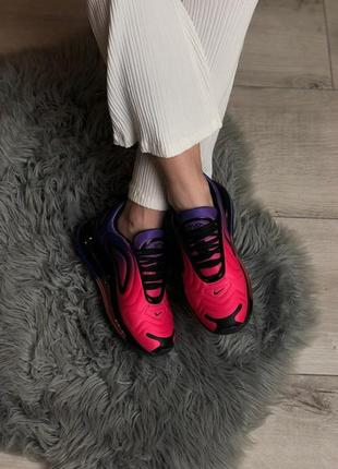 Шикарные кроссовки nike air max 720 pink violet2 фото