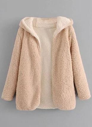 Zaful - шерстяное пальто с капюшоном (м)