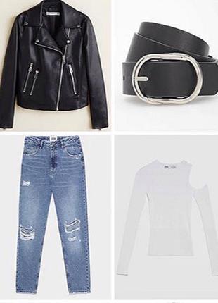Рваные mom джинсы h&m5 фото