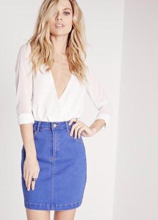 Базова спідниця missguided джинс