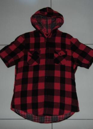 Оригинальная рубашка с капюшоном -topman - l - сток!!!