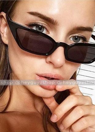 Солнцезащитные очки сонцезахисні окуляри черные пластмассовые узкие