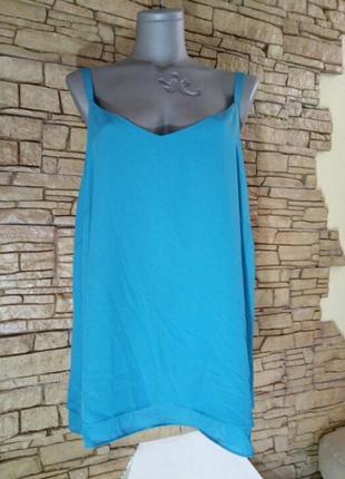 Бирюзовая майка,топ,блуза  большого размера,фото искажает