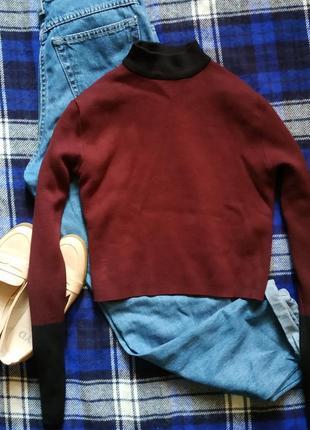 Укороченный свитерок-гольфик