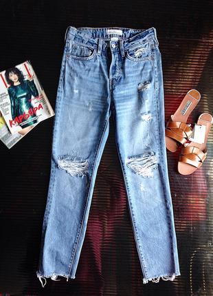 Рваные mom джинсы h&m2 фото
