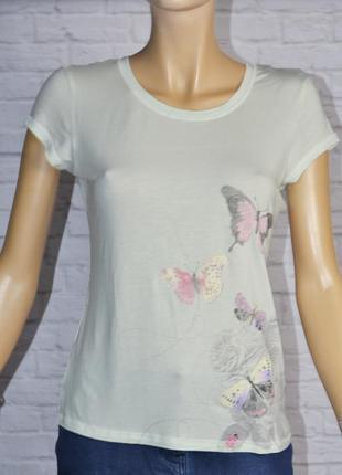 Комфортная футболка с бабочками от george р. s-m