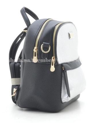 Рюкзак в городском стиле на два отделения 160 черный/серебро2 фото
