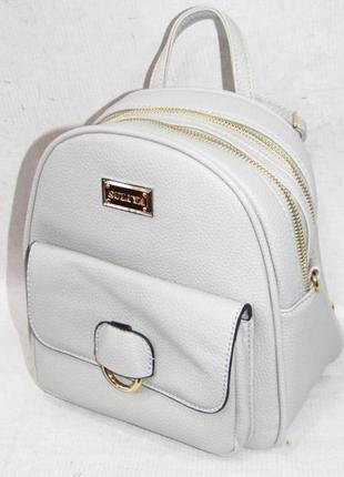 Рюкзак в городском стиле на два отделения 181 серый