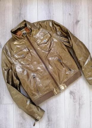 Gipsy золотая кожаная куртка