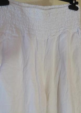 Крутые джогеры с высоким поясом,лен плюс вискоза2 фото