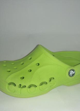 Тапочки сабо летние crocs салатовые