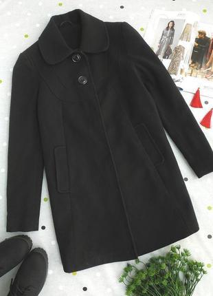 Черное стильное кашемировое пальто свободного кроя вьетнам