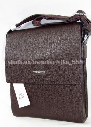 Мужская сумка из кожзама 6810 коричневая