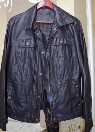 Куртка biaggini кожанка ветровка куртка кожаная  италия
