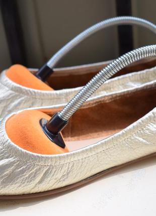 Кожаные туфли балетки лодочки лоферы
