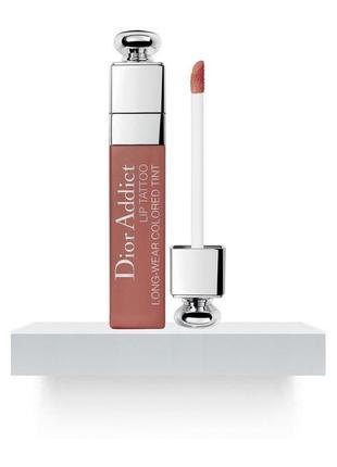 Тинт для губ dior addict lip tattoo long-wear colored tint 421 тон новый