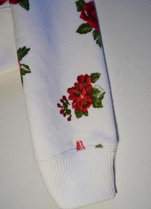 Оригинальный белый свитшот в цветы hollister7 фото