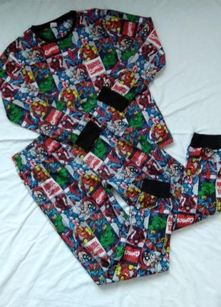Флисовая пижама, р-р m, avengers, мстители, marvel, супергерои, comics