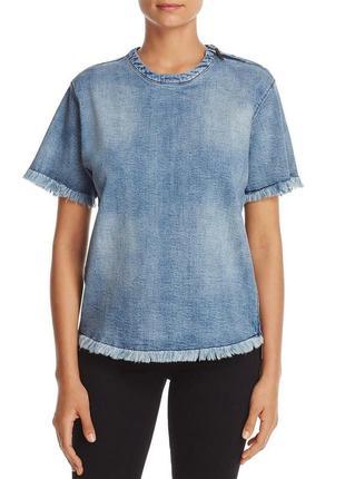 """Джинсовый топ """"kenneth cole new york"""" стиль """"moto t-shirt """" в размере s (полномерный)"""