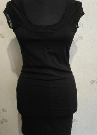 Тонкое трикотажное платье