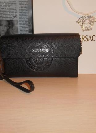 Мужская сумка клатч барсетка кожа, италия 9047