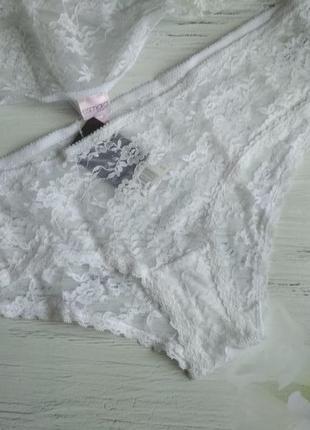 Набор кружевных трусиков 2 штуки.esmara.цвет белый.2 фото