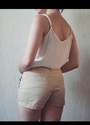 Бежевые шорты телесные летние шортики пудровые комбенизон ромпер