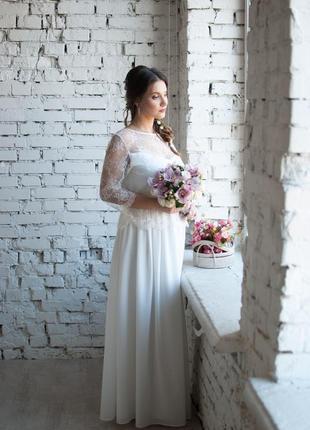 Свадебное платье 46-48р.