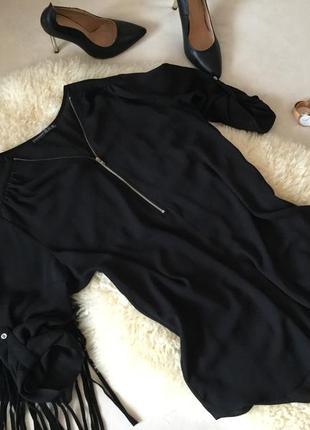Шикарная базовая блуза с замочком и рукавом 3/4, на р. 40/42 ...👠💄💋