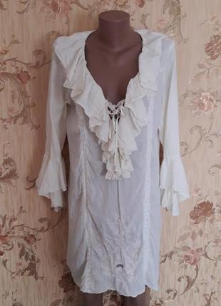 Хлопковое платье-туника р-р л