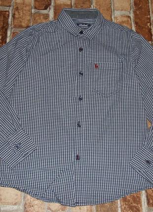 Рубашка хлопковая 10-11 лет  клетка rebel