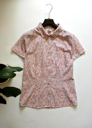 Легкая блуза на пуговках - хлопок