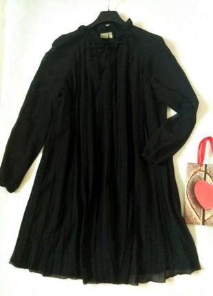 Шифоновое плиссированное платье с подкладкой 24