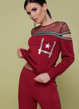 Костюм сильвер бордовый спортивный костюм