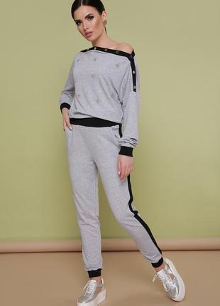 Костюм флирт серый спортивный костюм