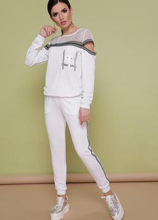 Костюм сильвер белый спортивный костюм