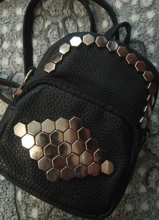 Рюкзак кожаный маленький