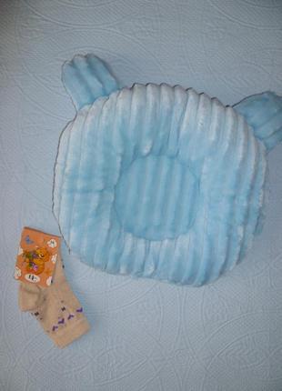 Детская подушка ортопедическая для новорожденных,дитяча подушка для малюка