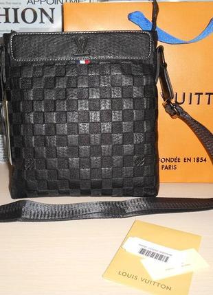 Сумка мужская планшетка  в стиле louis vuitton кожа, франция 3910-21 фото