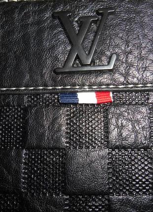 Сумка мужская планшетка  в стиле louis vuitton кожа, франция 3910-26 фото