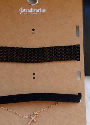 Набір чокерів stradivarius та набір сережок1 фото