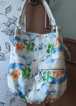 Arcadia (italy) цветная кожаная сумка1 фото