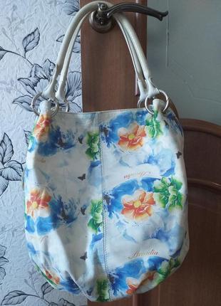 Arcadia (italy) цветная кожаная сумка2 фото