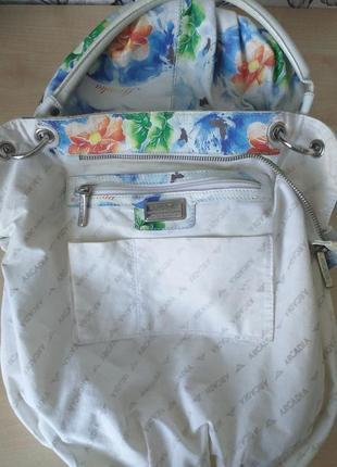 Arcadia (italy) цветная кожаная сумка3 фото