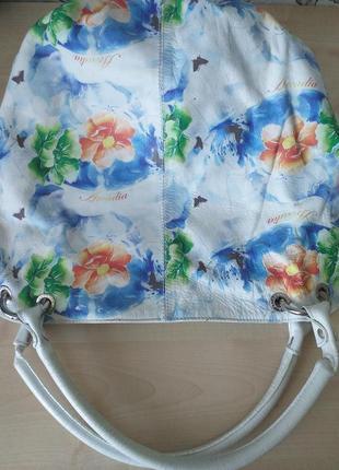 Arcadia (italy) цветная кожаная сумка5 фото