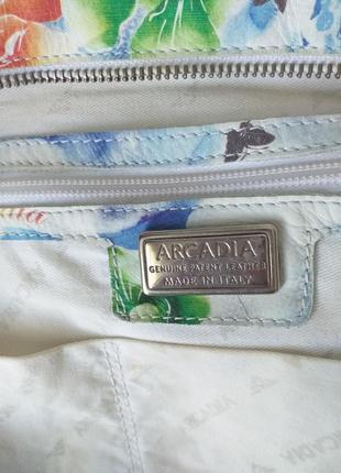 Arcadia (italy) цветная кожаная сумка9 фото