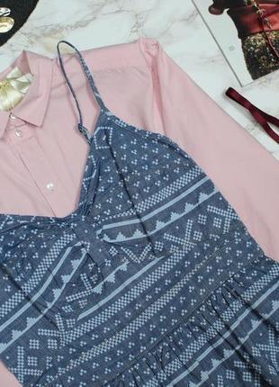 Обнова! платье деним джинс сарафан принт геометрия2 фото